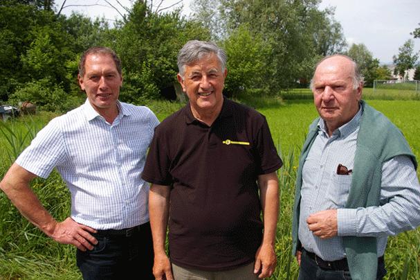 v. l. LKÖ Präsident Josef Moosbrugger, Obmann Reinhard Spiegel, VIV Präsident Dr. Egon Gmeiner